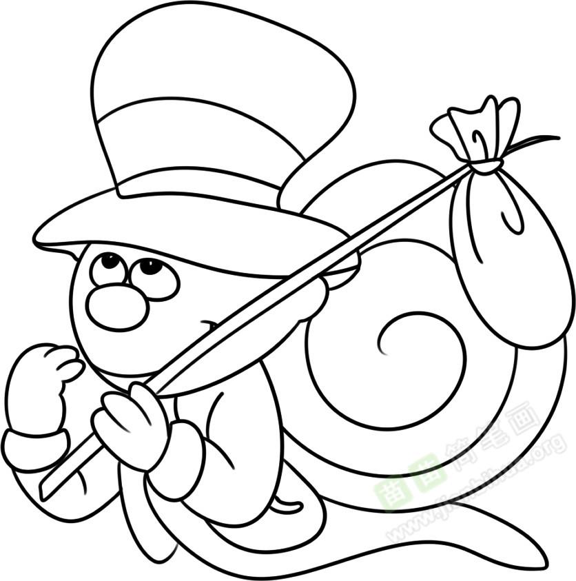 蜗牛简笔画图片教程 二