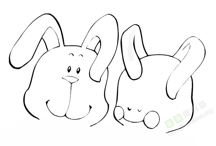 小兔简笔画图片教程