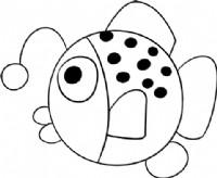 琵琶鱼简笔画图片教程