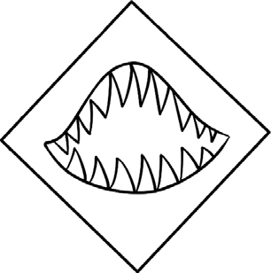 大白鲨简笔画图片教程