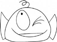 大嘴怪鱼简笔画图片教程