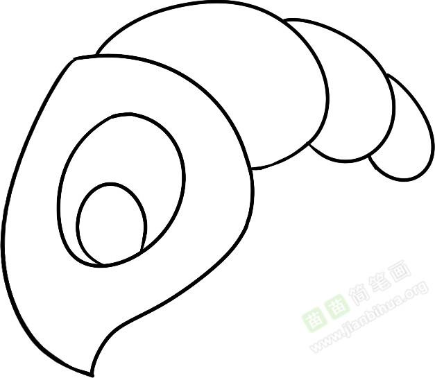 龙虾简笔画图片教程