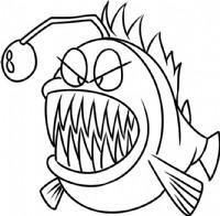 龅牙鱼简笔画图片教程