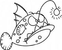 灯笼鱼简笔画图片教程