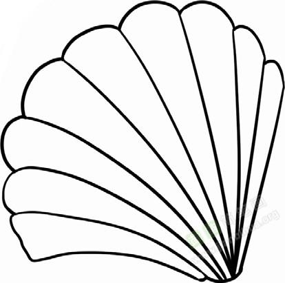 贝壳简笔画图片教程 一
