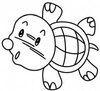 海龟简笔画图片教程(一)