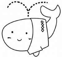 鲸鱼简笔画图片教程(二)