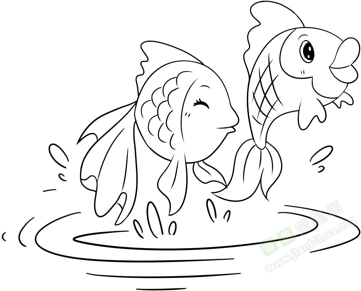 鱼塘出鱼图片_鲤鱼简笔画图片教程