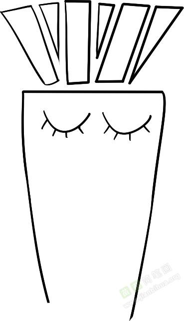胡萝卜简笔画图片教程