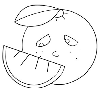 橙子简笔画图片教程 一