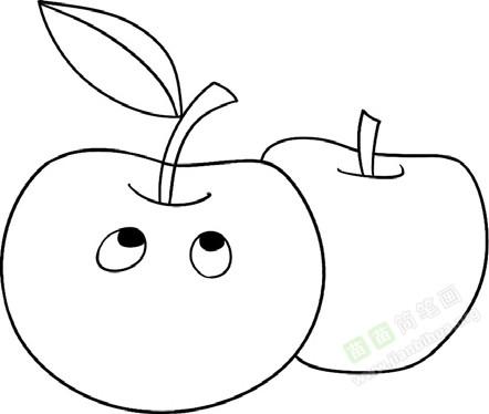 苹果简笔画图片教程 一