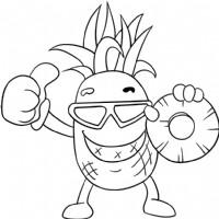 菠萝简笔画图片教程(一)