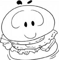 汉堡简笔画图片教程(一)