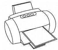 打印机简笔画图片教程