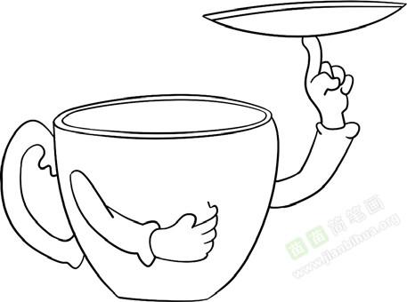 茶碗简笔画图片教程