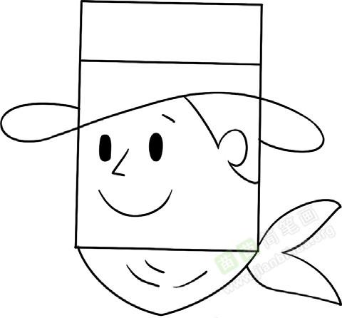 牛仔简笔画图片教程