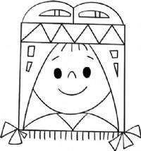 印第安女孩简笔画图片教程
