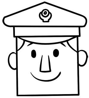 警察简笔画图片教程 一