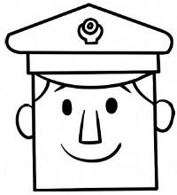 警察简笔画图片教程(一)