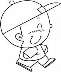 小男孩简笔画图片教程(一)