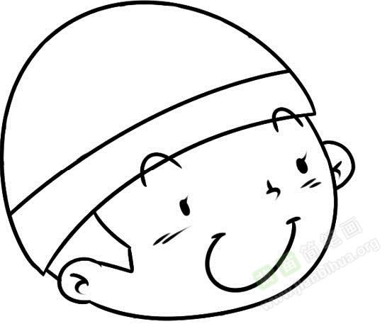 小男孩简笔画