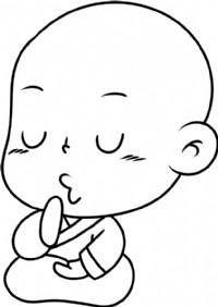 小和尚简笔画图片教程(一)