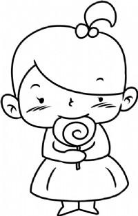 女孩简笔画图片教程(三)