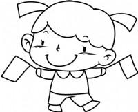 女孩简笔画图片教程(七)