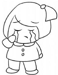 女孩简笔画图片教程(九)