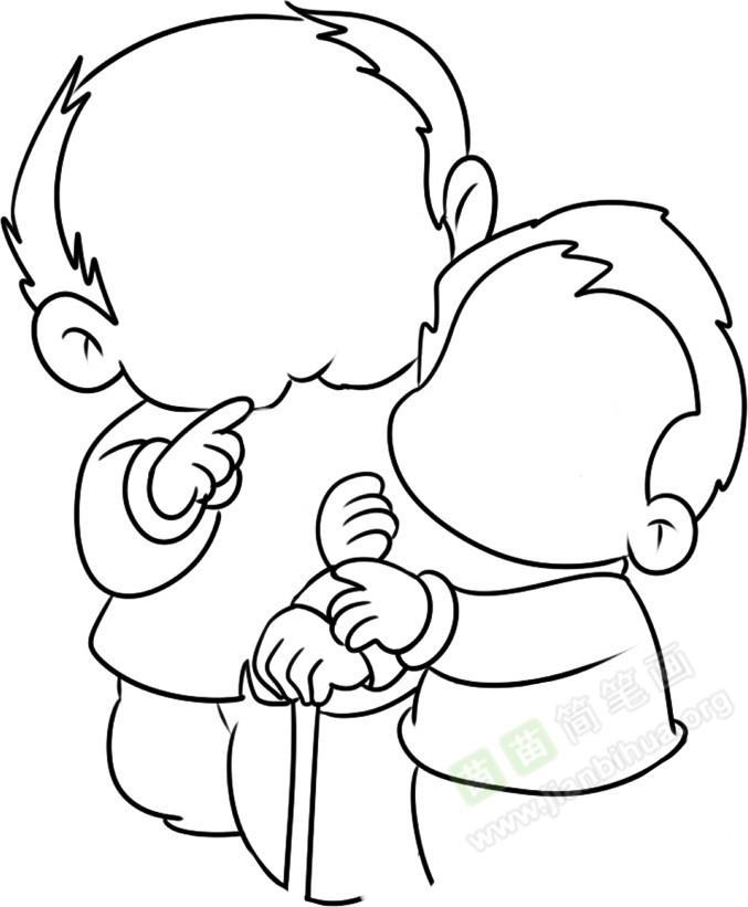 我相信小朋友们是一定可以做到尊老爱幼的!