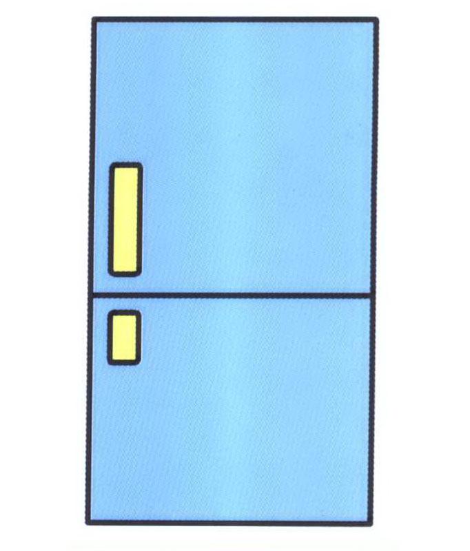 冰箱简笔画怎么画