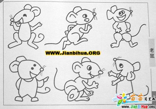 老鼠的简笔画画法5张(第2张)