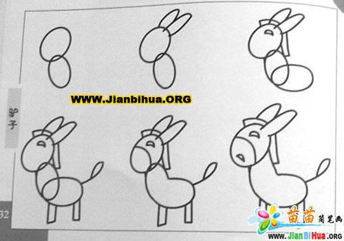 驴子简笔画作品19张(动物篇)