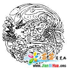 中国龙凤吉祥图简笔画图片 10张 第5张