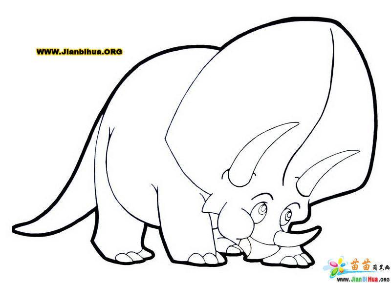 幼儿卡通动物简笔画13张