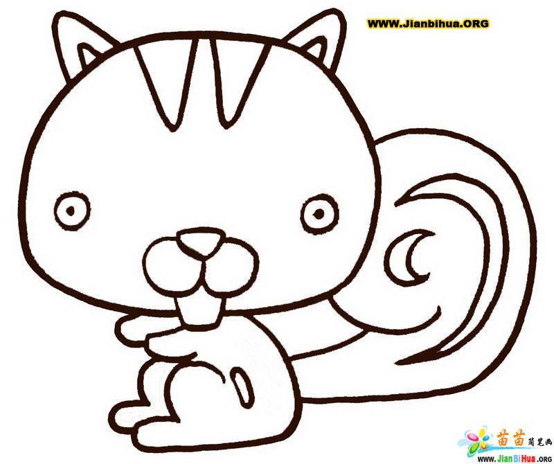 四年级简笔画动物图片 幼儿简笔画动物步骤图,儿童动物简笔