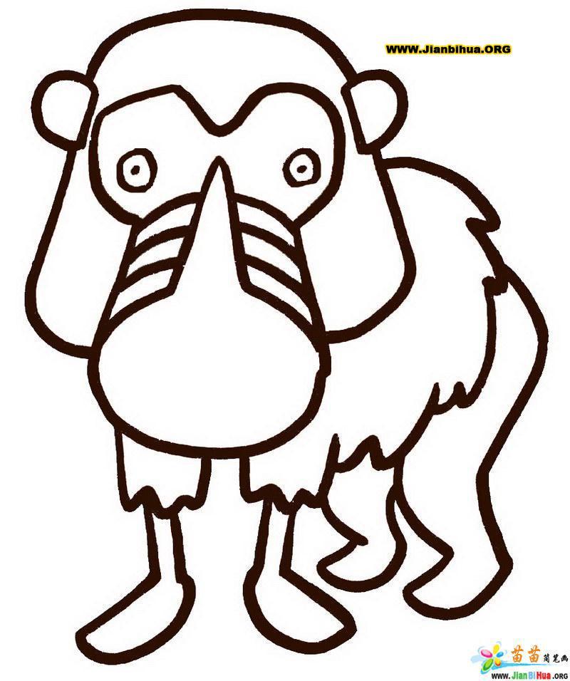 简笔画技法图谱 10张动物简笔画图片教程第7张