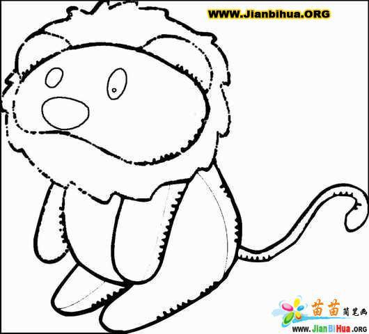 卡通动物简笔画10张作品