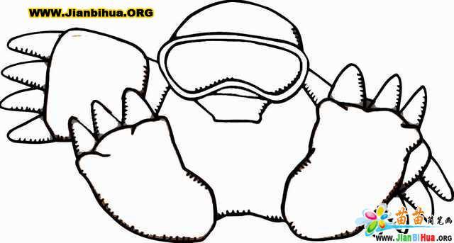 简单卡通动物简笔画12张图片