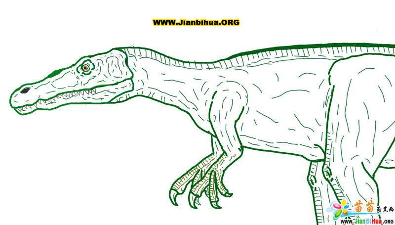恐龙简笔画图片――重爪龙