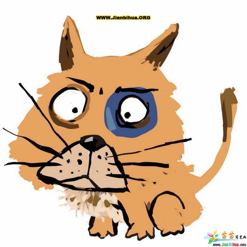 动物猫与恐龙简笔画10张