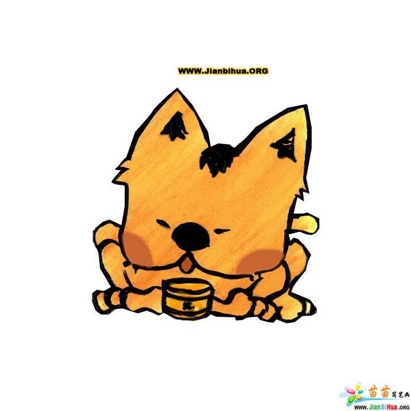 动物猫与恐龙简笔画10张(第2张)