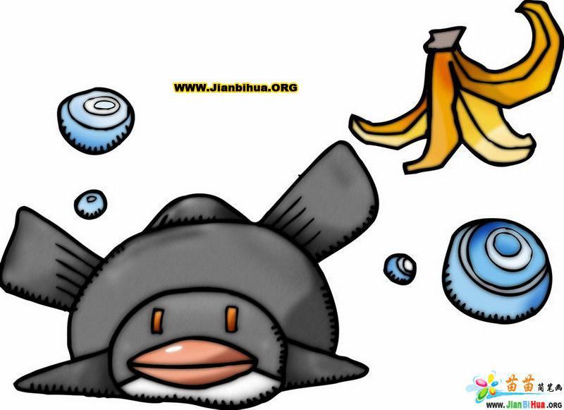 可爱动物类简笔画10张(矢量图)