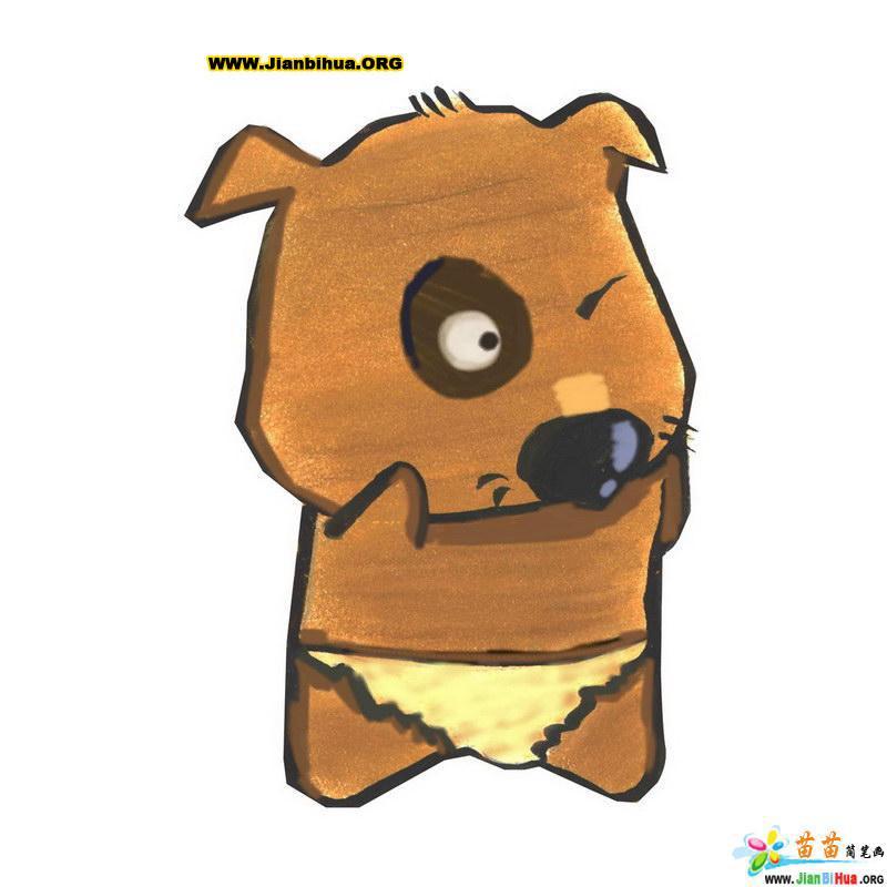 可爱动物类简笔画10张(矢量图)(第9张)