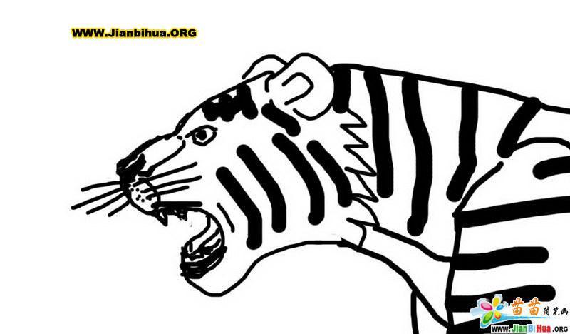 黑白动物头饰简笔画_米奇头像黑白简笔画_黑白山水风景简笔画 - 7262