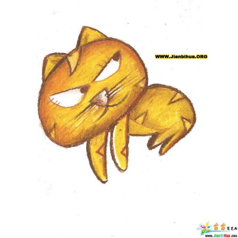 可爱猫的动物简笔画20张 第9张图片