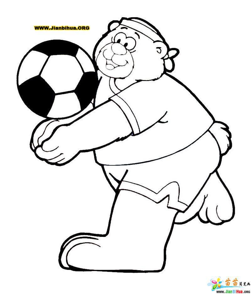 踢足球运动简笔画17张第7张