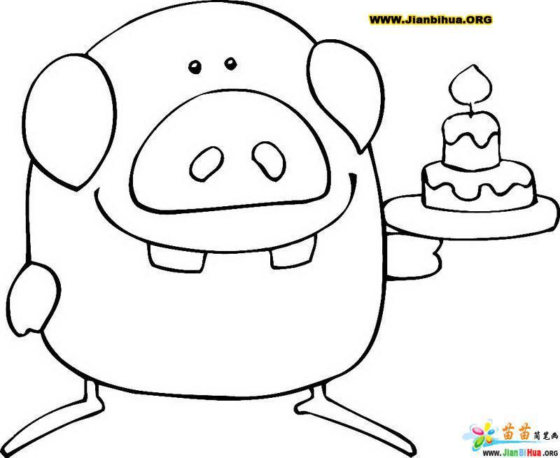 简笔画 谭泽建/类别:卡通动物简笔画 图片张数:1张上传者:谭泽建尺寸:...