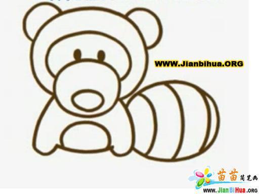 浣熊简笔画图片(动物类)