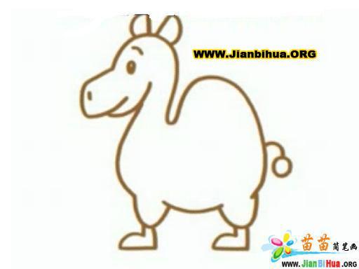 骆驼简笔画6张(动物类)